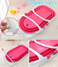 Best selling folding baby bathtub / portable baby bathtub / plastic baby folding bathtub