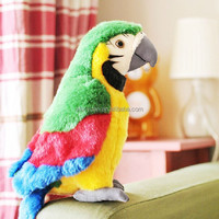 Customized Soft Toy Colorful Plush Wholesale Parrot Bird