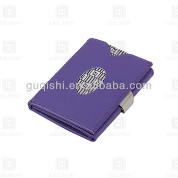 Leisure Noverlty Genuine Cow Leather Card Holder With Various Folded