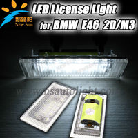 Super Bright led license plate lamp for bmw e46 2d(98-03),high quality led license plate light for bmw e46 3m(98-03)