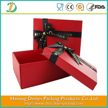 Red Handmade Feature and Gift Use Custom Foldable Gift Box