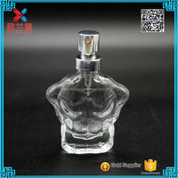 16ml Man body shape clear glass old fashioned perfume bottle wholesale