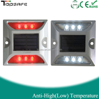 Yellow,White,Red,Blue Aluminium 6LEDs Solar Pavement Marker Light