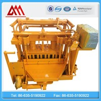 Hot Germany technology block machine QT40-3A widly used mobile hollow block making machine price
