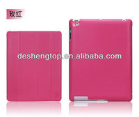 hot selling business style laptop cases for ipad 2/3 with 4 folded