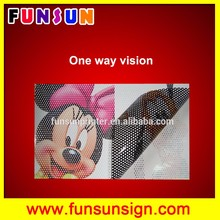 Removable Clear Fabric Adhesive Film Perforated Stretch Film One Way Vision