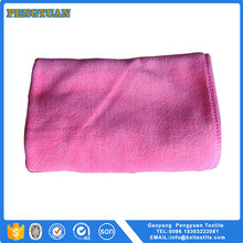 Solid color microfiber and terry towel cleaning cloth microfiber car wash towel