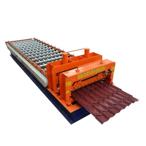 china hebei botou glazed step mosaic tile roofing sheet roll forming making machine