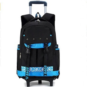 New arrival waterproof durable rolling trolley wheeled school backpack rucksack