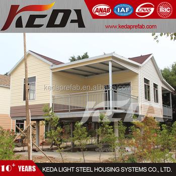 Prefabricated Steel Frame House Second Home by the Beach Side