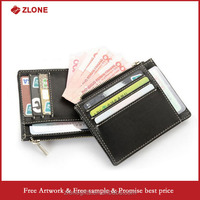 High quality functional head layer cow pickup bag , business with coin purse card holder men wallet