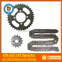CD110 428 116L 36T 14T motorcycle part drive chain kit