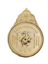 2014 new year Gold stamping stock medal--GuangDong Supplier