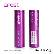2018 Efest hot sale aw IMR 18650 2600mah 40A li-mn vape lipo batteries battery