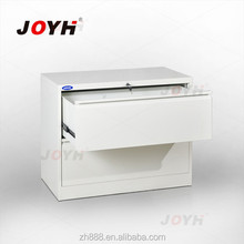 Ivory White Iron Cupboard Wide Steel Filling Two-drawer Parts Cabinet with Key Lock