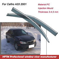 Thickness 3-4.5mm window film 2016 trending products Window visor for Cefiro A33