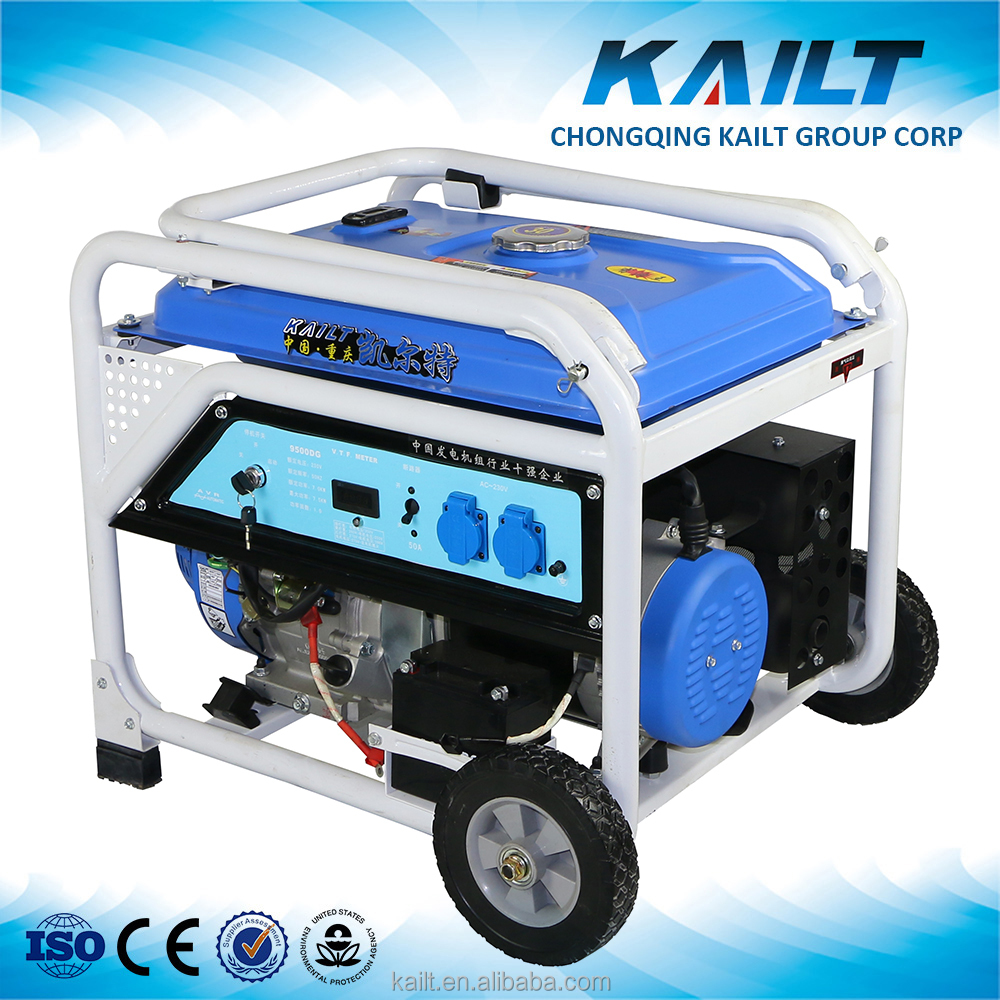 Kailt engine Gasoline power 7kw portable petrol generators for small boat