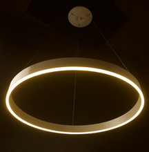 Aluminum Acrylic Occidental Style Dimmable Large Size Dimeter 800 mm LED Ring Pendants lamp for Resturant
