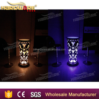 color changing led night club bar table , led bistro table