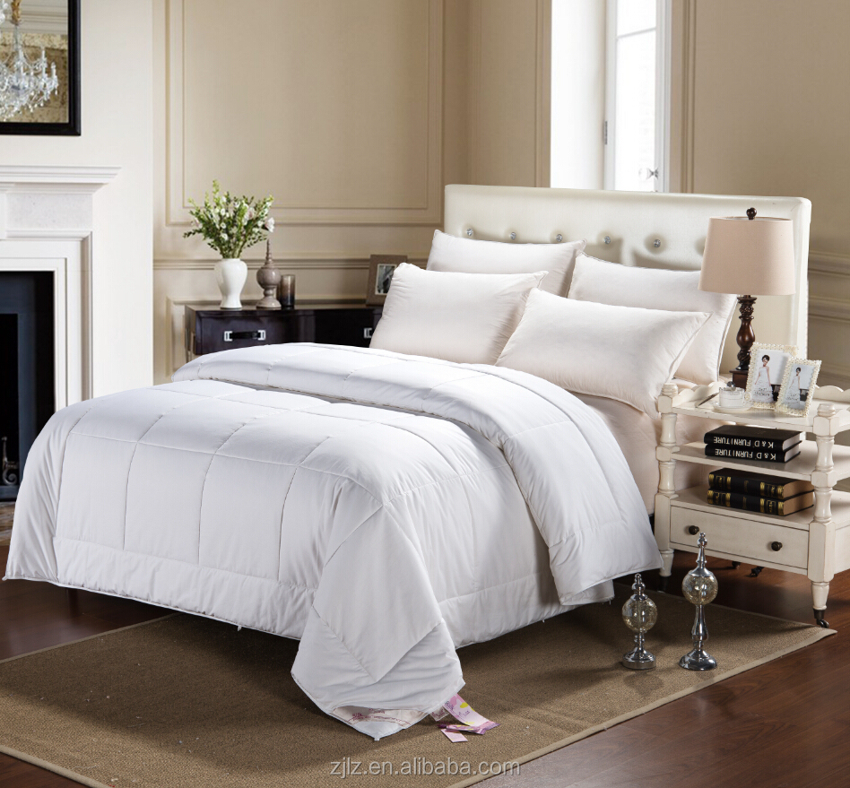 luxurious bed linen, 5star hotel bedding quilt with silk filling inner
