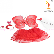New Cute Children Dress Up Butterfly Wings 4pcs