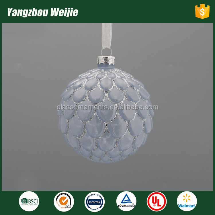 2017 colorful christmas tree ball glass balls pine cones decoration
