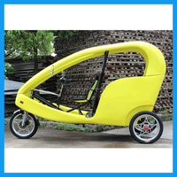 Recumbent Seated Electric Street Velotaxi Cycle Rickshaw for sale