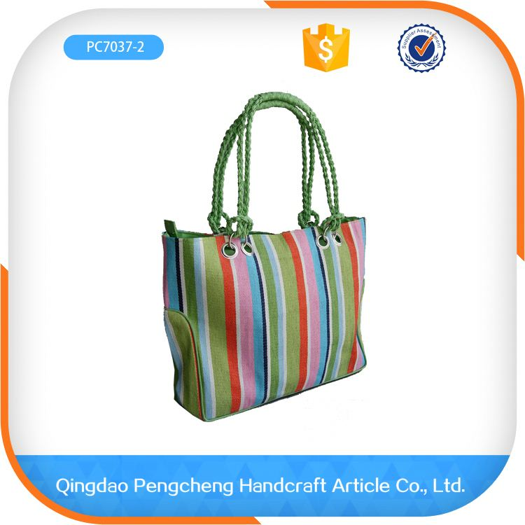 Wholesale extra large rope handle paper straw small paper straw bag for handbags