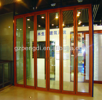 LM80 Aluminium Folding Door/Luxury Australia Standard AS2047 Aluminium Glass Folding Door/Finished Aluminum Folding Doors