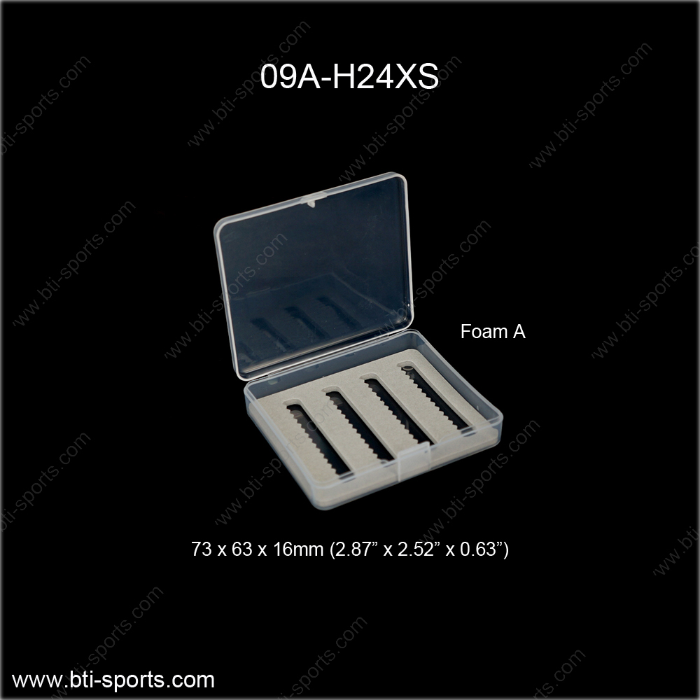 Wholesale fly fishing pocket size clear look mini fly box