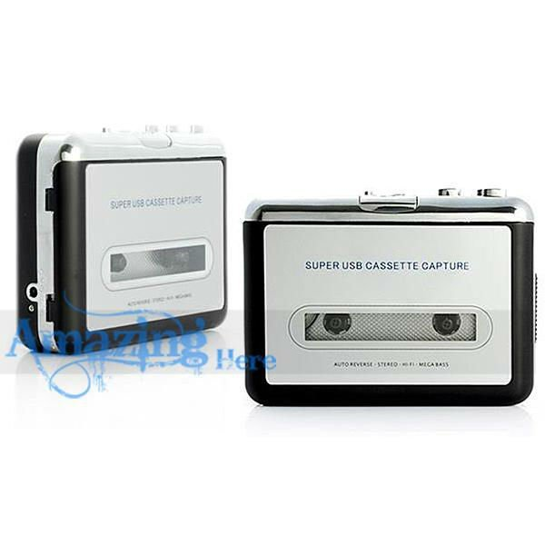 Cassette Tape To MP3 Converter Capture Adapter Digital Audio Music Player
