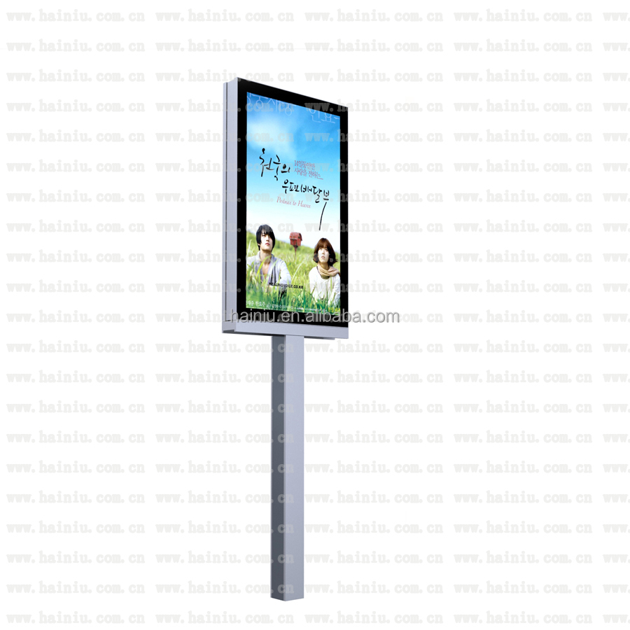 Popular Outdoor Ad led light box with LED Edge light