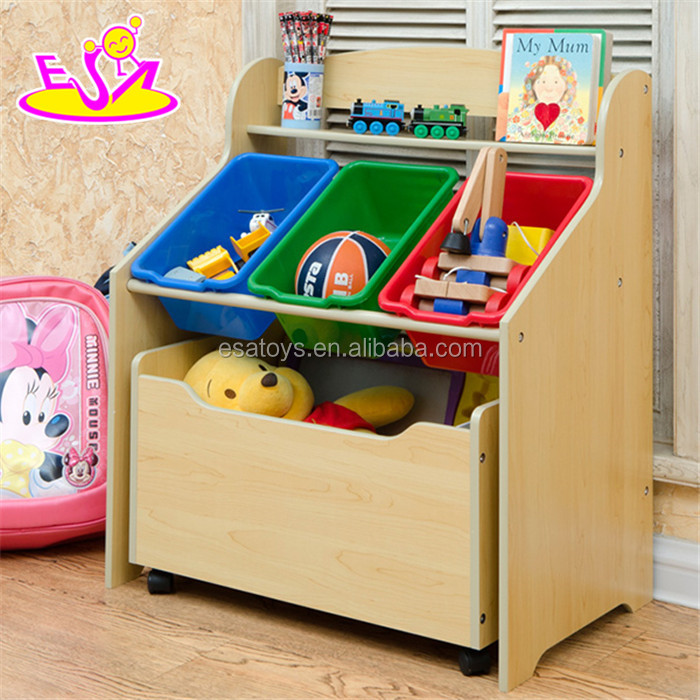 MDF Toy wooden storage box with plastic Box,Household items wholesale Colourful wooden storage box W08C132