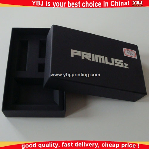 2016 Luxury Black Paper Gift Magnet Cardboard Box Packing Wth Foam Insert Customized Box Packing