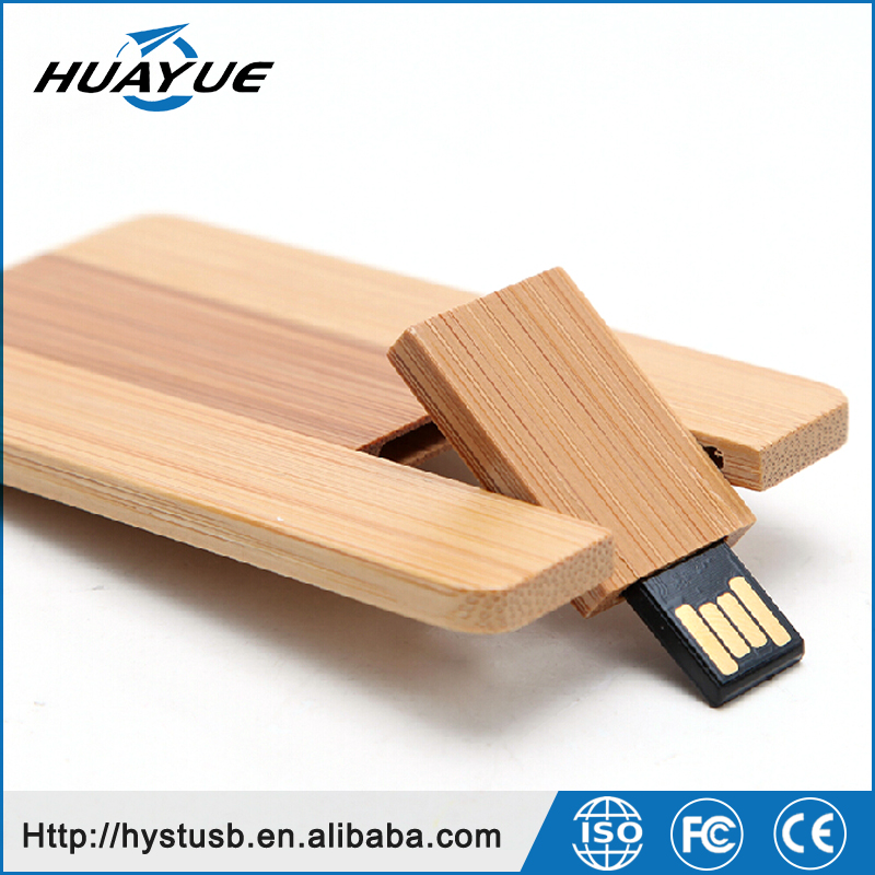 Wood 2.0 / 3.0 USB Flash Memory Stick 8GB 4GB 2GB 1GB Business Card USB Flash Drives wholesale usb sticks