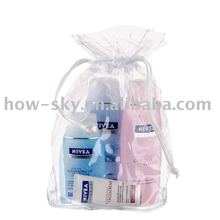PVC Vinyl Bag Soft Drawstring Packing Cosmetic Pouch