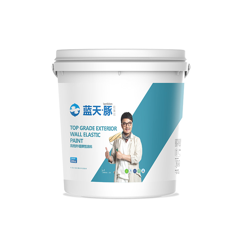 Exterior wall elastic coating