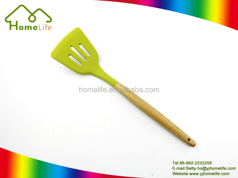FDA standard Eco-friendly Silicone Kitchen Utensil Slotted Turner/spatula