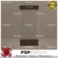 2016 Newest high end customized design glass display showcase