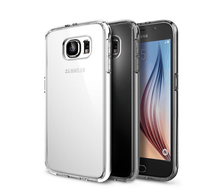 S6/S6 Edge Luxury Dual Hybrid Metal Aluminum Frame +Clear Acrylic Back Case For Samsung Galaxy S6/ S6 Edge G925 Ultra Thin Cover