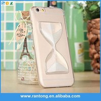 New design hign quality sandglass clear crystal case for iphone 5/6/6plus