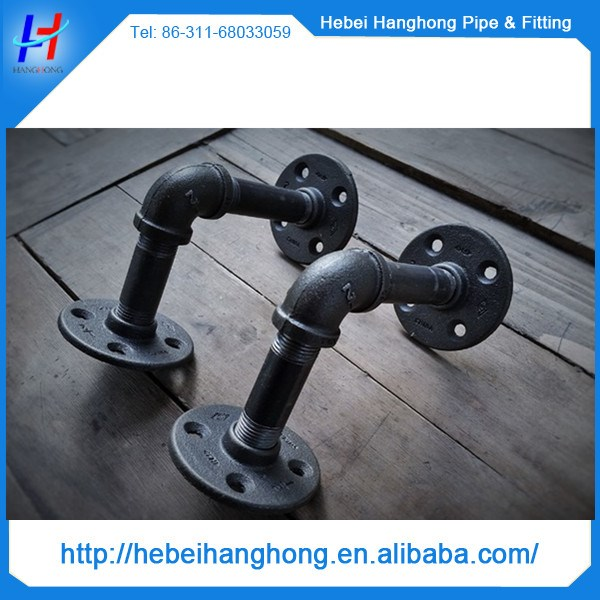1 2 3 4 1 black iron floor flange male female coupling for 1 inch square floor flange