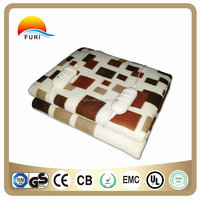 polar fleece fabric electric blanket CE GS