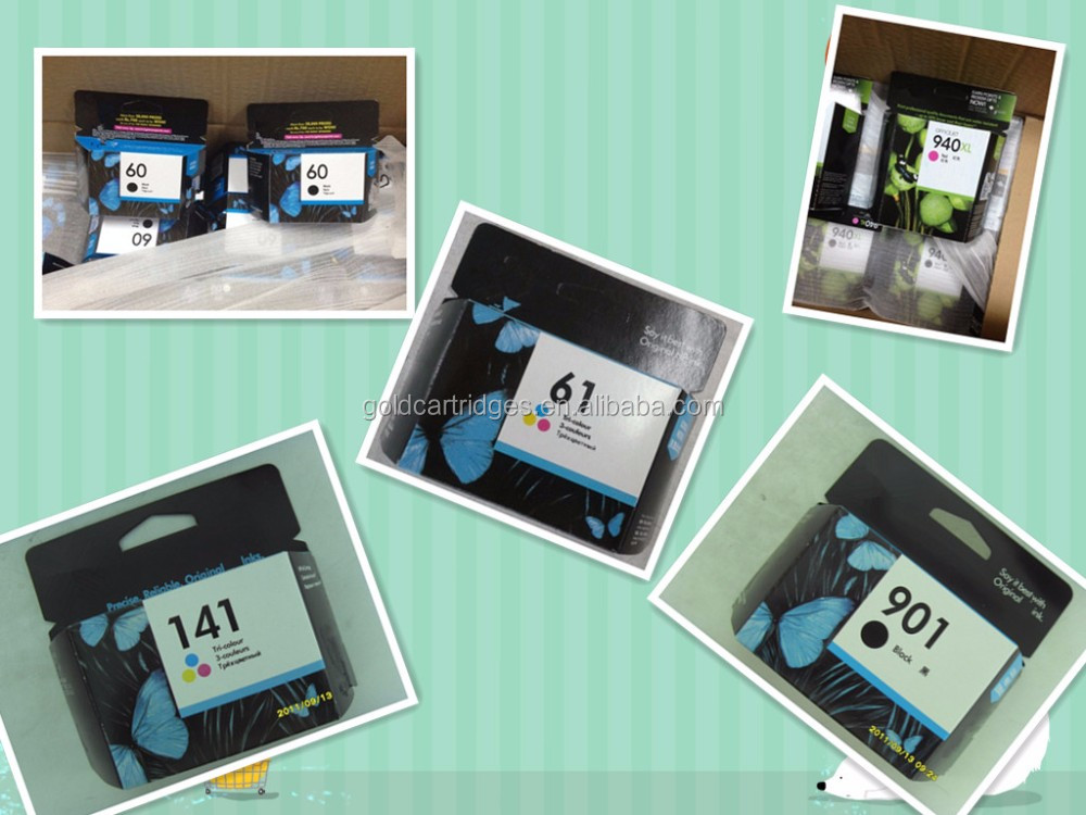 Printer ink cartridges for hp new version show ink level chip reset no light blink for hp63 original inkjet cartridges
