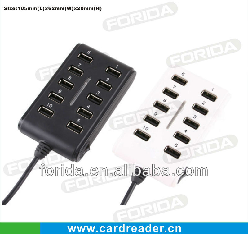 10 Ports HI-Speed USB 2.0 HUB with light usb hub long cable