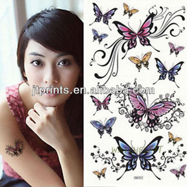 wholesale temporary glitter tattoo stencil