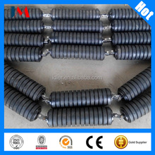 133mm diameter rubber coating belt conveyor impact rollers