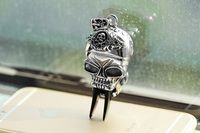 Fashion hip hop jewelry 2016 skull head zombie fang black opal stainless steel pendant