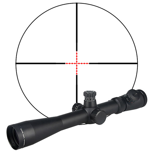 GZ1-0038 <strong>M1</strong> 3.5-10x40 AO Red & Green illuminated compact hunting rifle scope with red laser sight