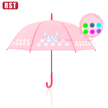 2018 trending products RST hot sale fashion umbrella color changing creative straight umbrella cute umbrella for kids